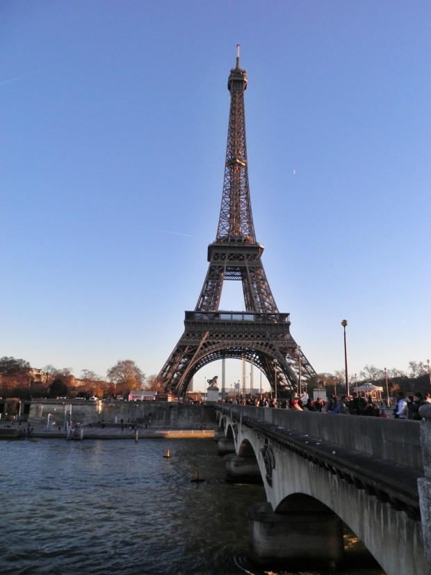 The Eiffel Tower, as seen from the Pont d'Iéna