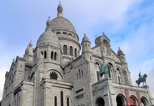 The beautiful white domes of the Sacre-Coeur