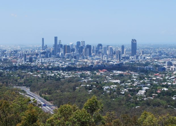 The Brisbane Skyline from the Mt Coot-tah lookout