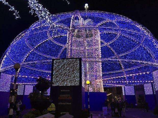 George Street Edinburgh's Christmas Festive Things to do in Edinburgh