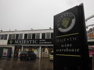 Who wouldn't want to visit anywhere that's called 'majestic wines'? (Shoreditch High Street)