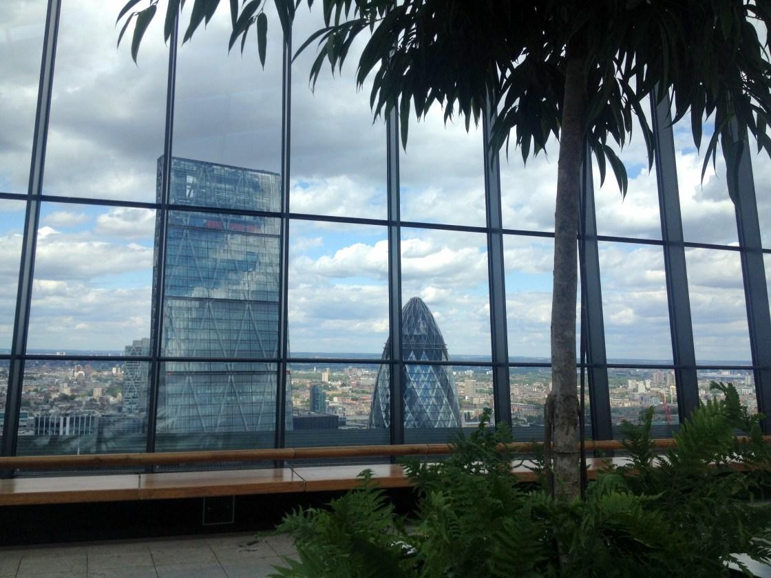View outside Walkie Talkie building London Sarah Blinco