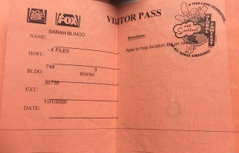The X-Files travel blog visitor pass