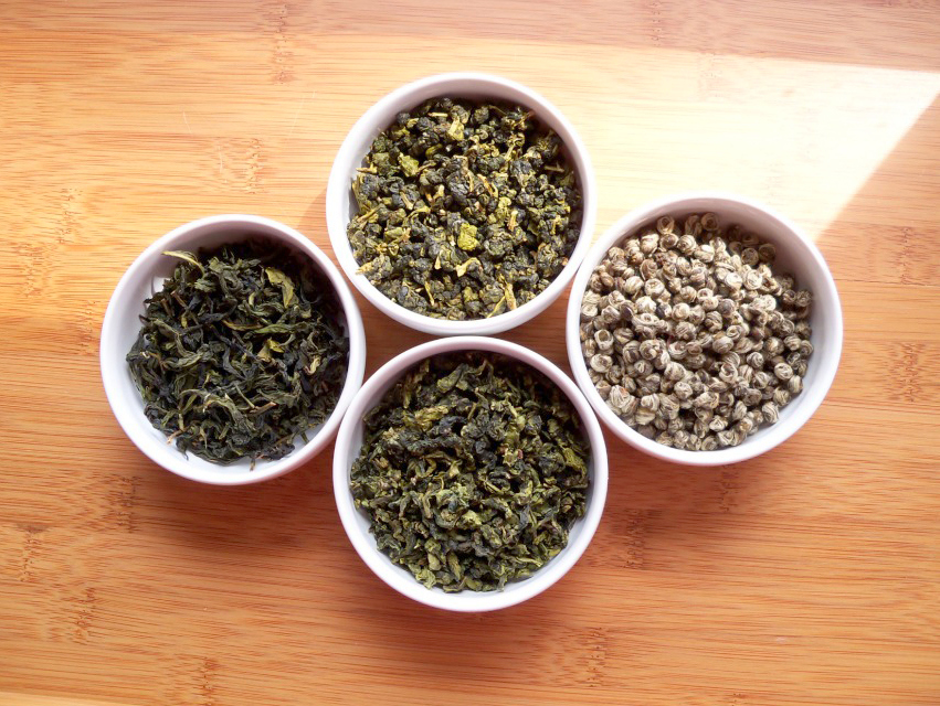 four green teas by A Girl With Tea Flickr creative commons