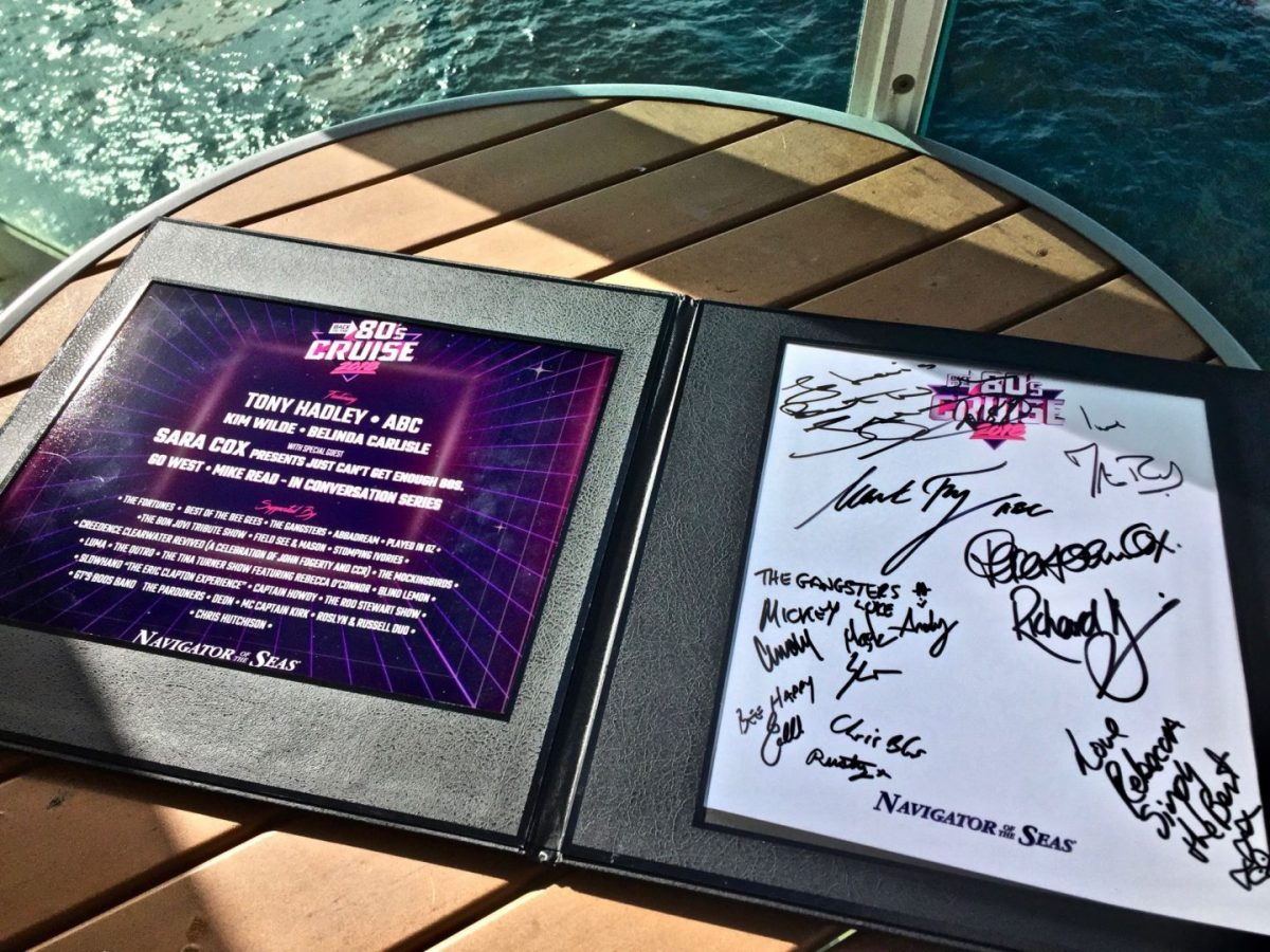 Back to the 80's cruise autographs