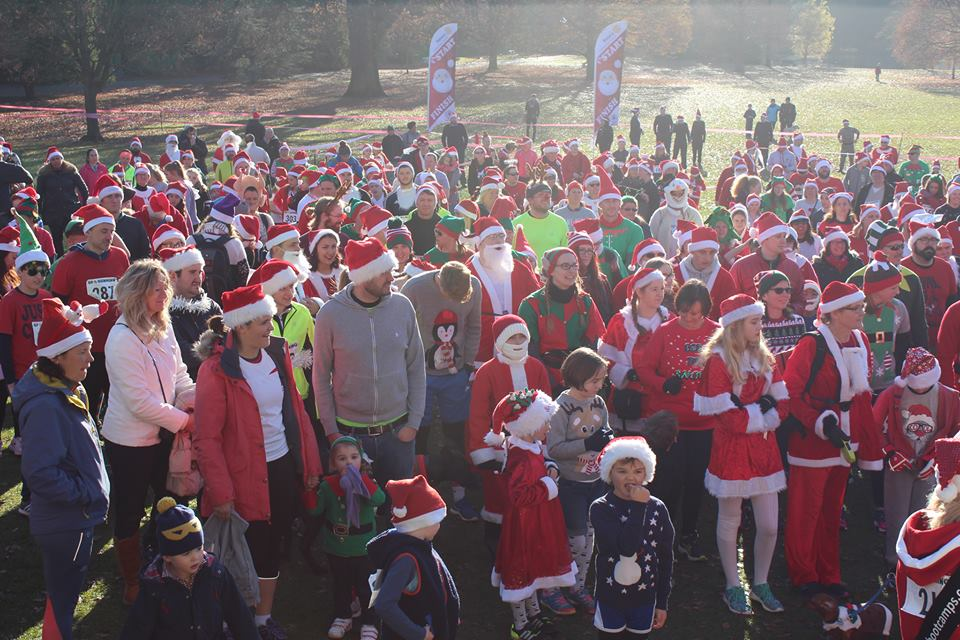 Santas fun run Pittville Park