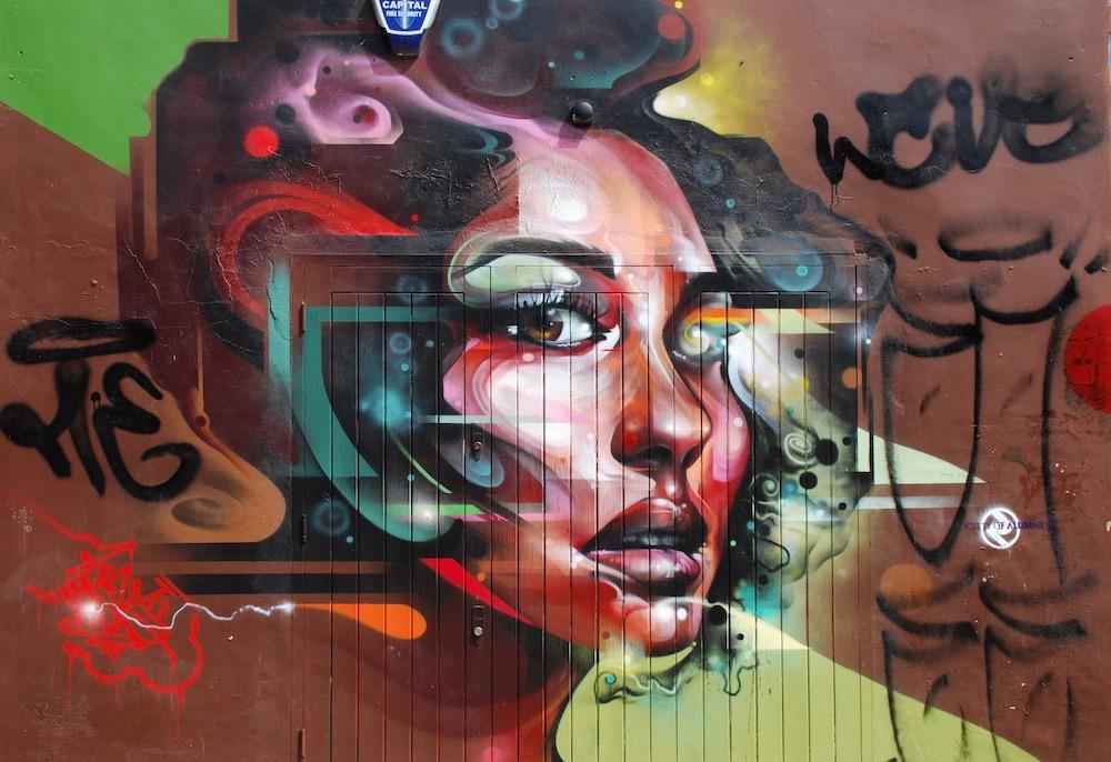 Street art Shoreditch Londen Verenigd Koninkrijk