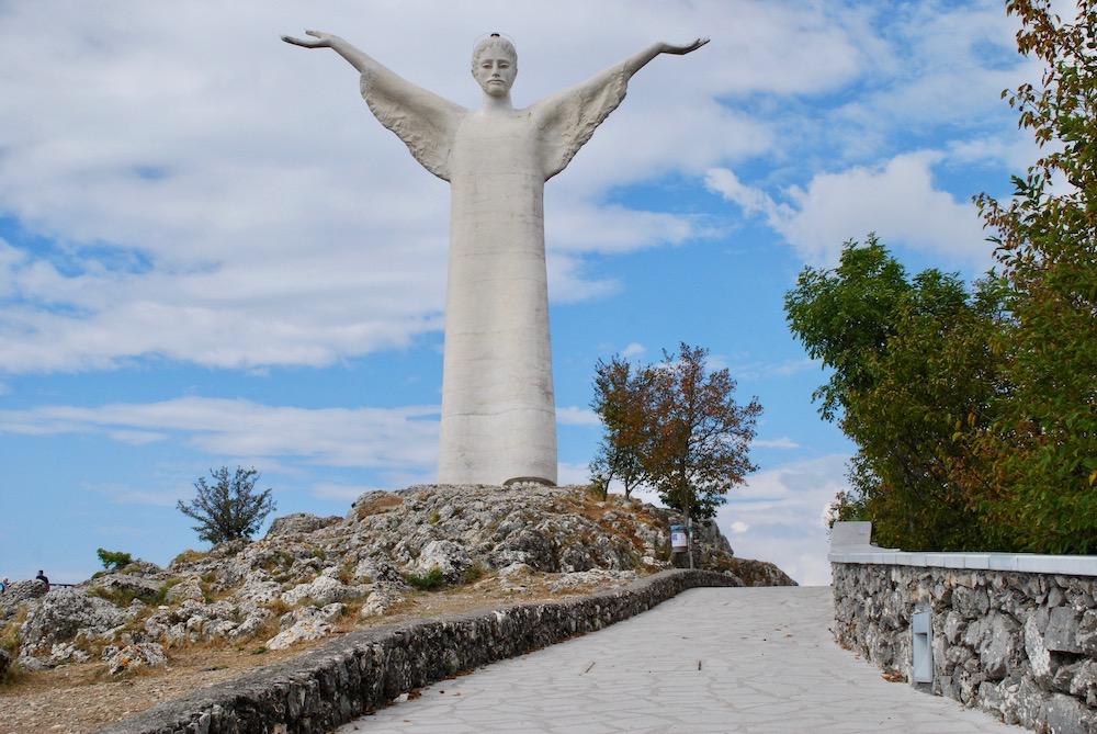 Statua del Cristo Redentore Maratea Italië