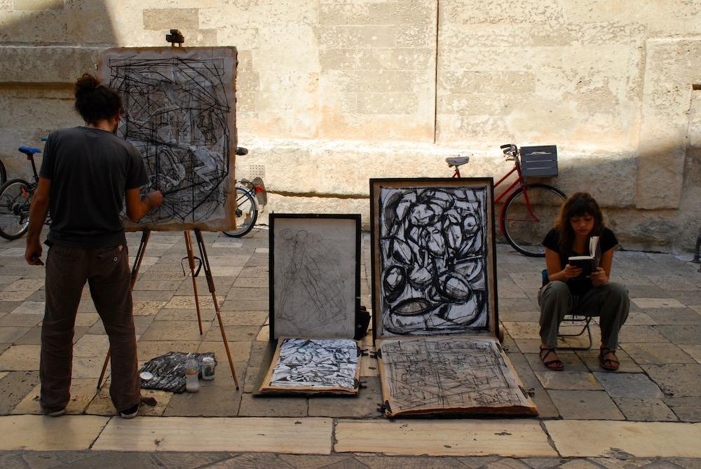 Kunstenaars Lecce Italië
