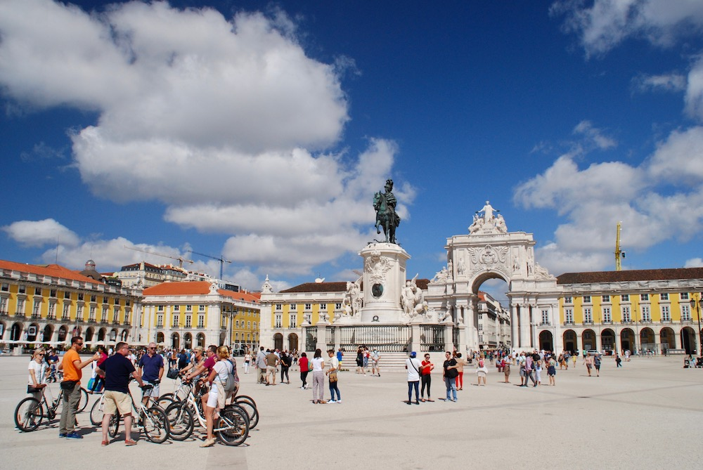 Doen in Lissabon Praça do Comércio Lissabon Portugal