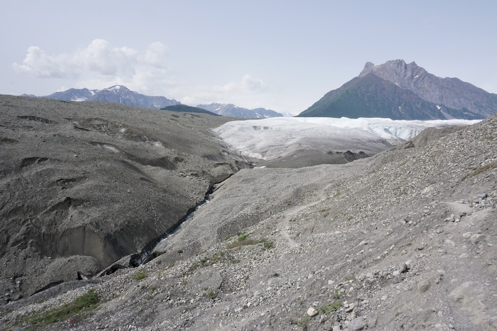 Root Glacier Trail Wrangell St Elias National Park Alaska Verenigde Staten