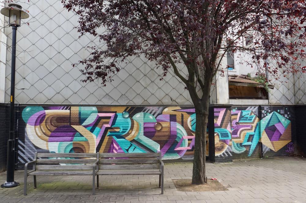 Mr. June street art Antwerpen Berchem België