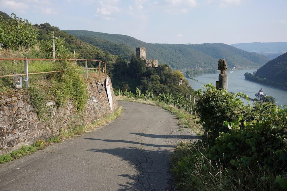 Wandelen Rheinsteig St. Goarshausen naar Kaub Hessen Duitsland