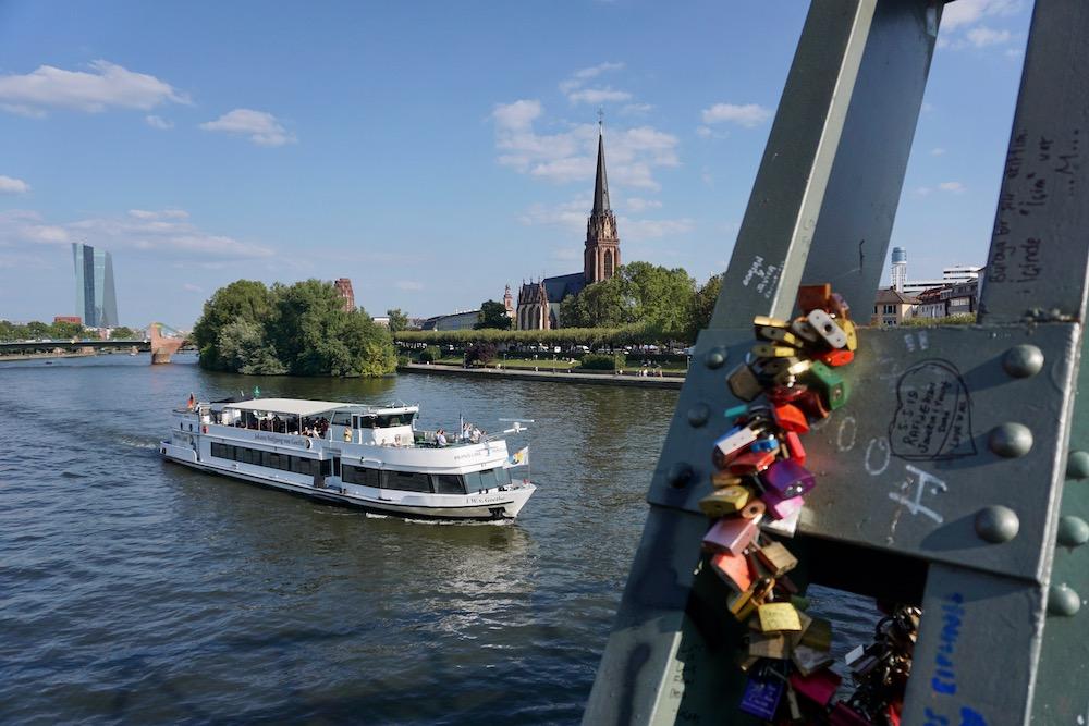 Eiserner Steg Frankfurt am Main Duitsland