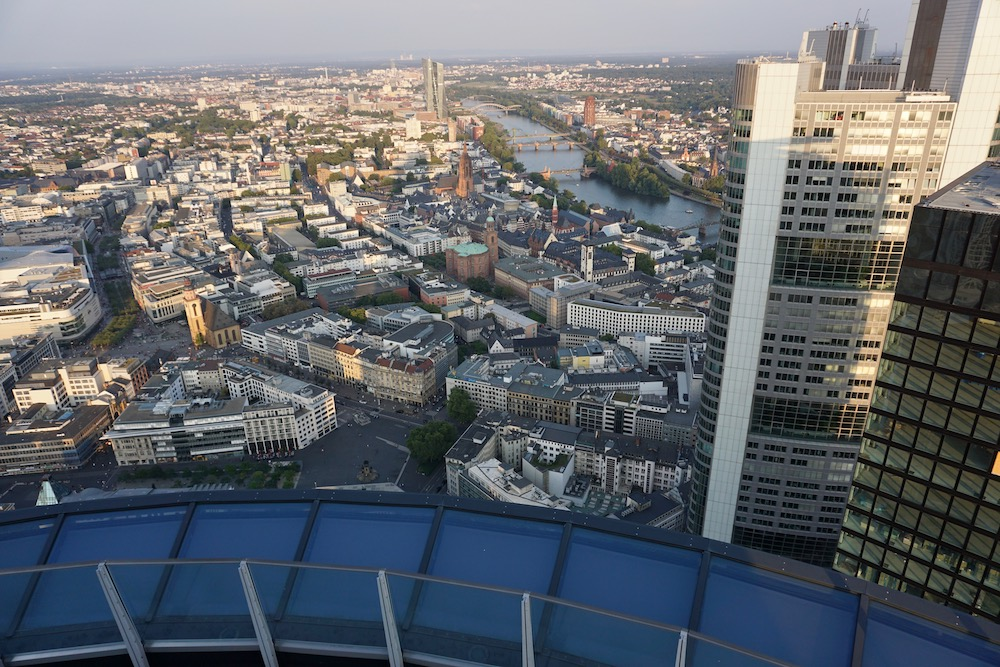 Uitzicht Main Tower Frankfurt am Main Duitsland