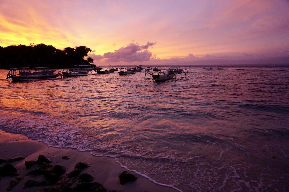 Zonsondergang Nusa Lembongan Indonesië