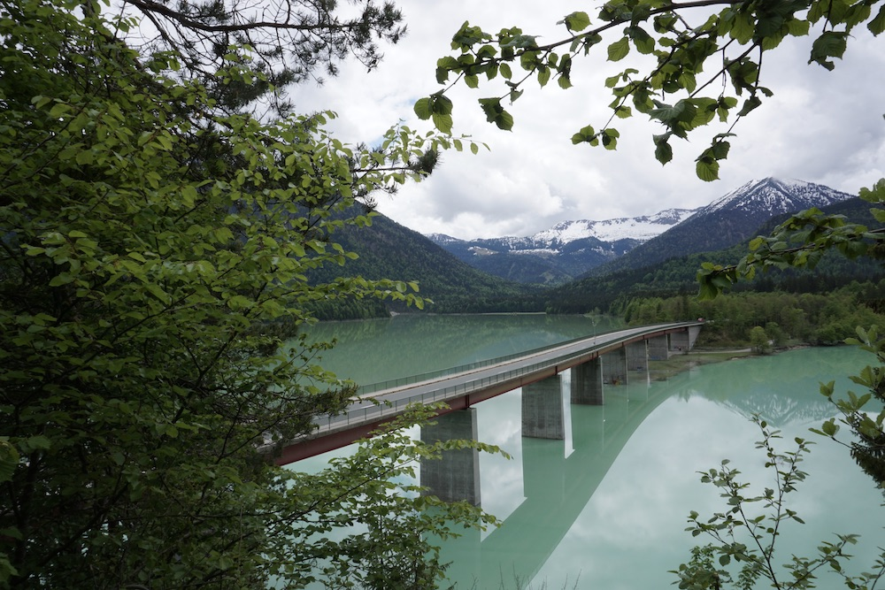 De mooiste meren in Duitsland Sylvensteinsee