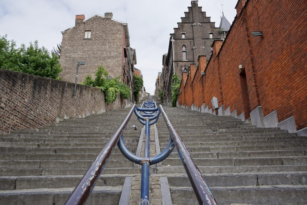 Trappen van Montagne de Bueren Luik België