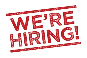 We are hiring!! 1