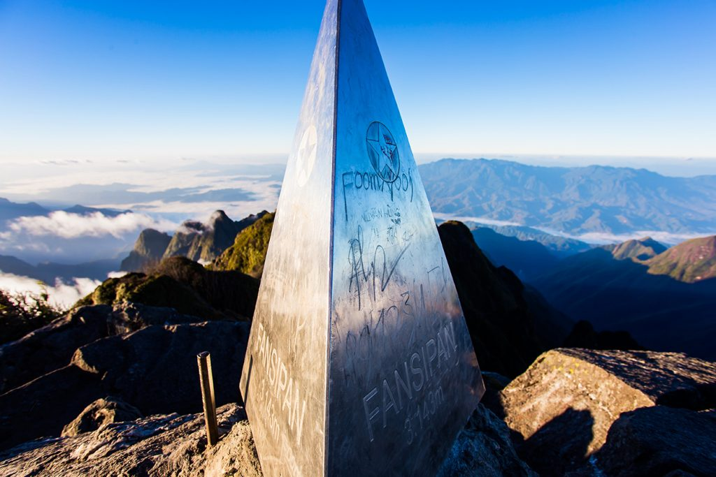 The summit of Fansipan 3143 m