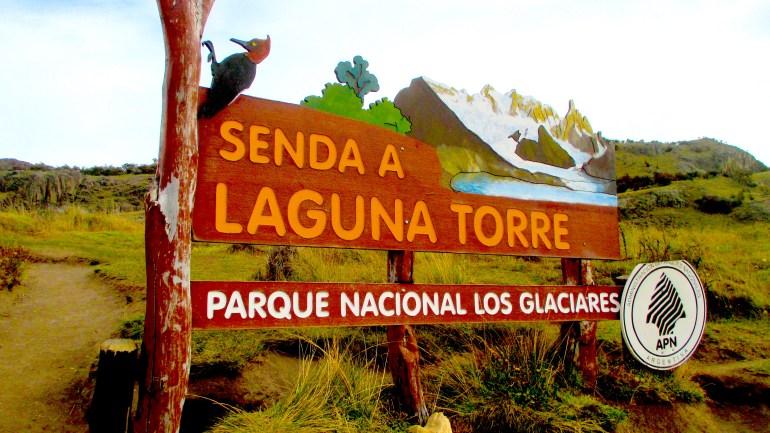 Laguna Torre Sign