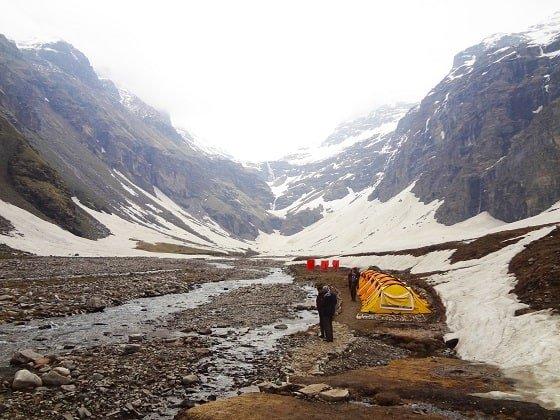 Rupin Pass - Lower Waterfall Camp