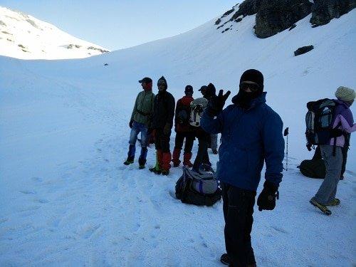 Ready to climb Rupin Pass
