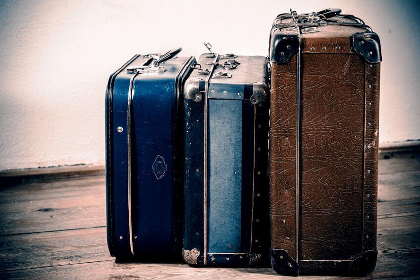drei retro koffer