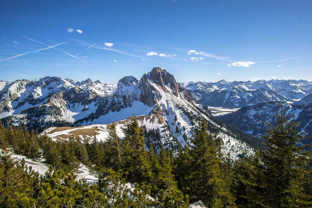 Blick auf den Aggenstein im Winter