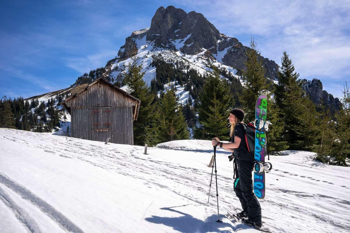 Schneeschuhwanderung am Breitenberg im Allgäu