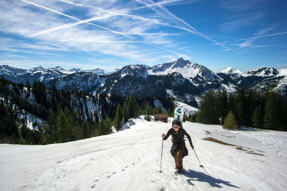 Snowboardtour am Breitenberg im Allgäu