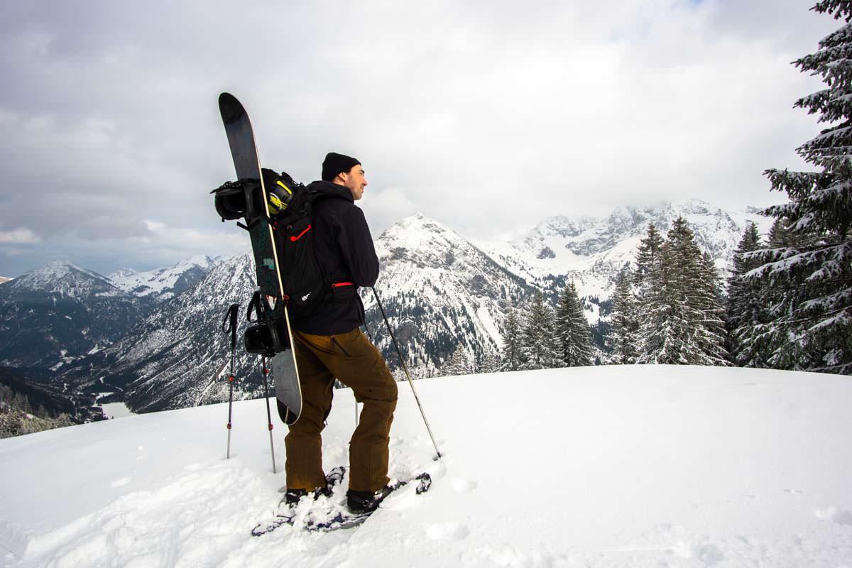 Schneeschuhwanderung am Sonnenkopf im Allgäu
