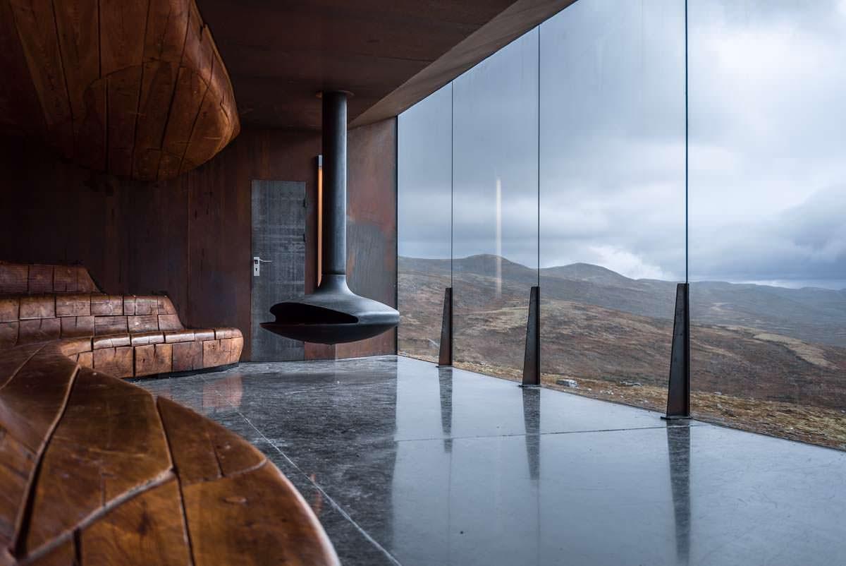 Tverfjell-Hütte am Snohetta Viewpoint in Norwegen
