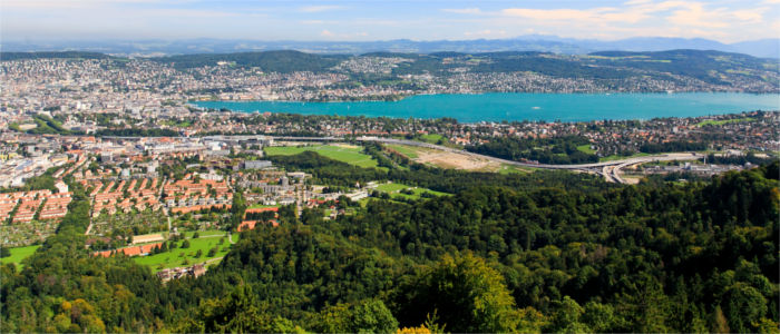 Zurich and Lake Zurich