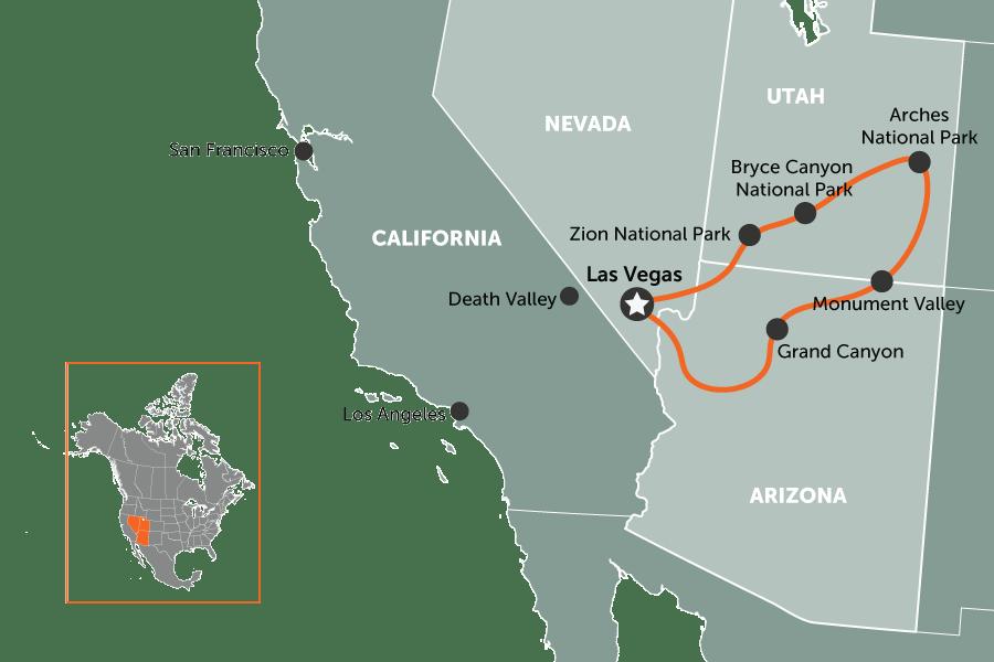 Parks Vegas Usa Western Loop Map