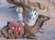 Camel herders and guides in the Wadi Rum Desert, Jordan
