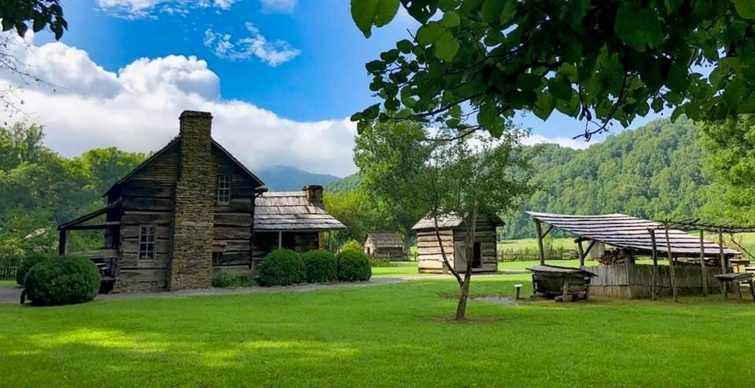 Mountain Farm Museum at Oconaluftee Visitors Center Great Smoky Mountains National Park
