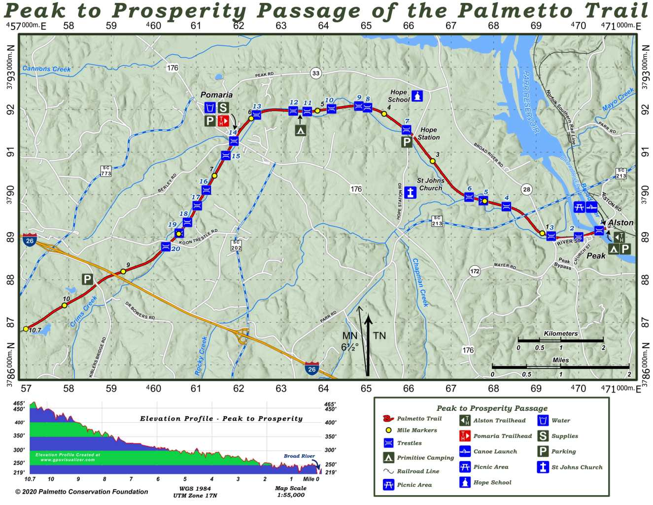 Palmetto Trail Peak to Prosperity Passage