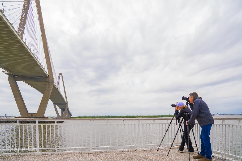 photographers at the bridge