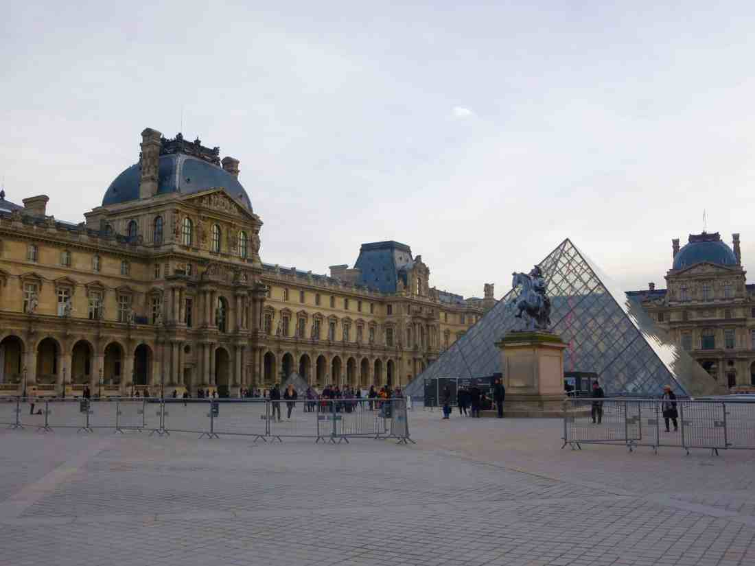 The Louvre early in the morning with no line