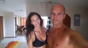 Kashlee and Trevor Insanity workout Ecuador