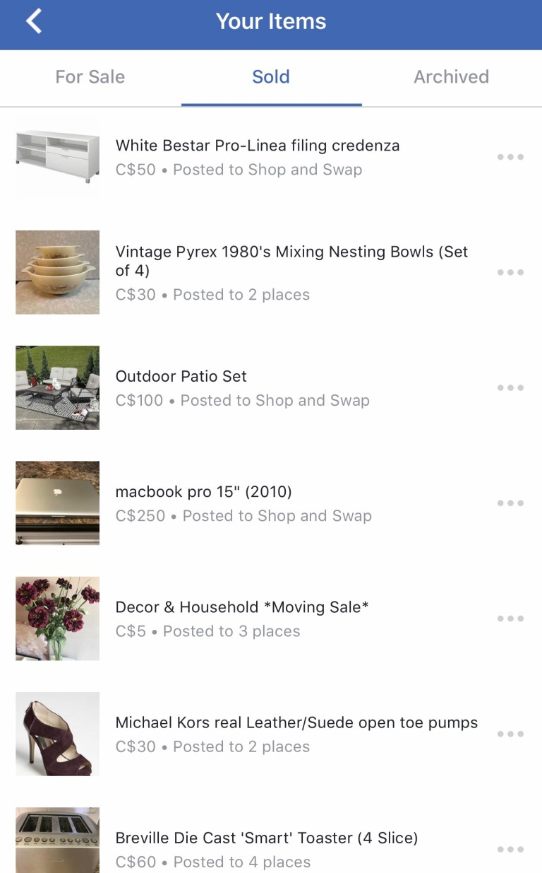 facebook buy sell groups - SELL your used things to become a minimalist