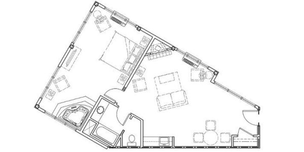 Luxury Suite Floor Plan Kelowna