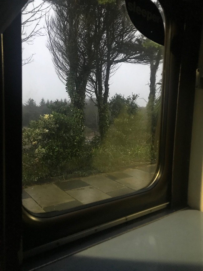 Arriving in Penzance on the GWR sleeper train