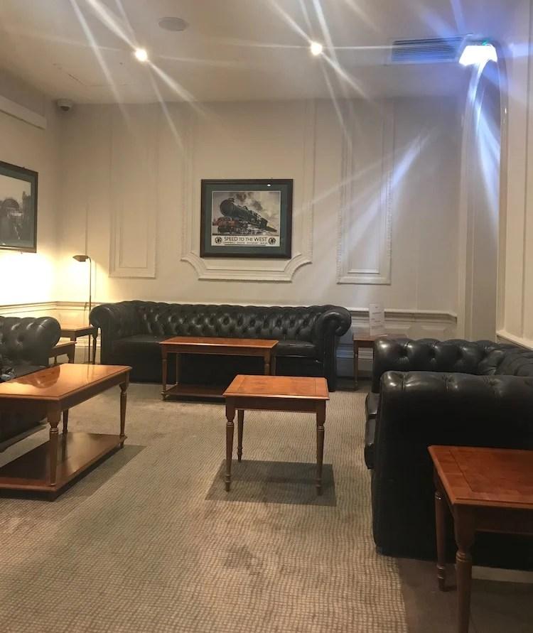 Old style lounge at paddington station