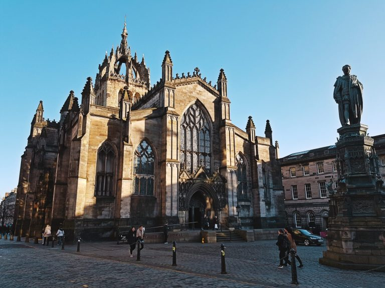 St.Giles Cathedral outside of Old Town Chambers Edinburgh
