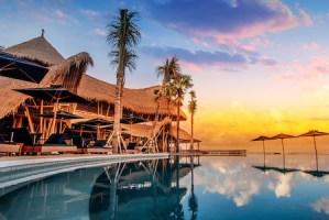 Finns Beach club bar in Canggu Bali