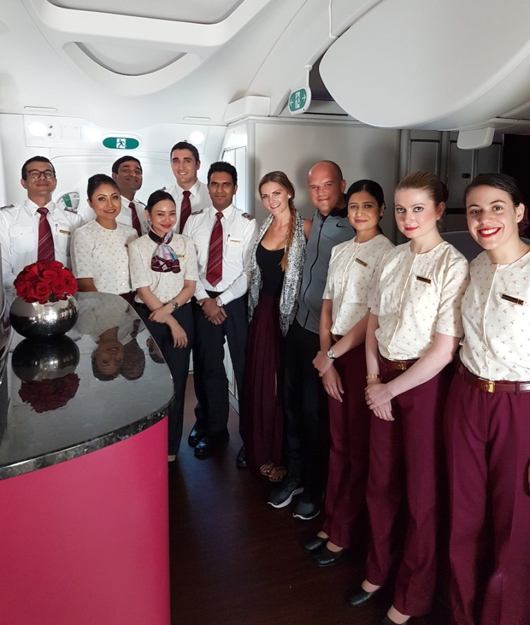 Qatar Airways crew 787 Kashlee and trevor - travel off path