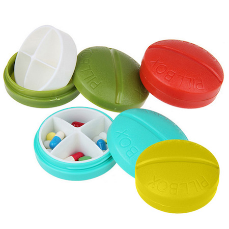 travel size mini pill box