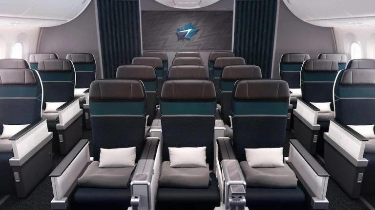 Westjet 787 destinations Premium Economy Interior